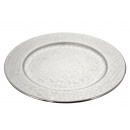 Decoration plate , silver, hammered, design 2, S,