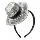 grossiste Accessoires cheveux: Bandeau, mini chapeau, paillettes, 2- ...