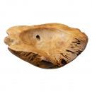 wholesale Decoration: Teak wood bowl, M, approx. 40cm diameter