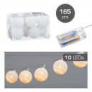 LED-kerstverlichting Cottonball, wit, 10LED, ca. 3