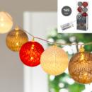 Lumières LED Cottonball, mélange de couleurs, 10LE