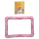 Marco inflable para selfies, rosa, aprox.75x50cm