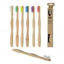 groothandel Tandverzorging: Tandenborstel bamboe, 6- maal geassorteerd , ongev