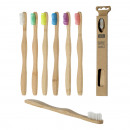Brosse à dents en bambou, 6- fois assorti , enviro