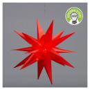 Étoile LED, SMD, pliable, rouge, OUTDOOR, petite,