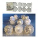 Luci a LED Batuffolo di cotone, bianco / argento,