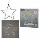 Estrella LED para exteriores, negra, 30 LED, aprox