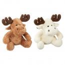 Großhandel Puppen & Plüsch: Plüschtier Elch 17cm, 2 Farben sortiert