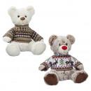 wholesale Dolls &Plush: Plush bear with Norwegian sweater approx. 31cm, 2-