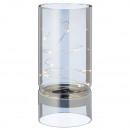 LED dekorációs üveg, ezüst kb. 19cm