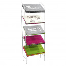 hurtownia Wszystko dla firmy: Półka sklepowa na maty stołowe o wysokości 120 cm