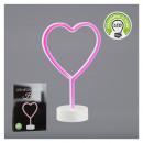 groothandel Verlichting: LED NEON lamp op voet, hart, 28cm hoog