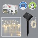 LED tündérlámpák rézhuzal SOLAR, 50 LED, 590cm