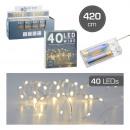 nagyker Fényfüzérek: Könnyű lánc mikro, 40 LED, 420cm