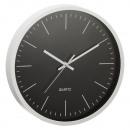 nagyker Órák és ébresztőórák: Falióra fekete / ezüst, kb. 30 cm átmérőjű