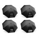 Großhandel Regenschirme: Taschenschirm Spruch 4-fach sortiert