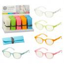 groothandel Leesbrillen en accessoires: Leeshulp vilt met hoesje, 5- maal geassorteerd i