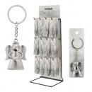 Großhandel Geschenkartikel & Papeterie: Schlüsselanhänger Schutzengel Metall, matt