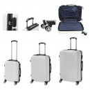 Großhandel Koffer & Trolleys: Kofferset A005, 3-teilig weiß