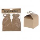 Nature ajándékdoboz címkézésre, 2-es készlet a 9.5