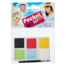 Maquillaje Pocket Colors 6 colores, 1 pincel