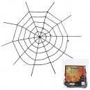 groothandel Woondecoratie: Gigant spinnenweb, zwart, groot, circa 150 cm