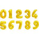 Großhandel Geschenkartikel & Papeterie: Folienballon, Zahl, 0-9, 10-fach sortiert ca. 80cm