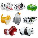 groothandel Stationery & Gifts: Folieballon dieren rennen 8- maal geassorteerd