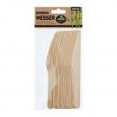 Couteau en bambou, lot de 12, env.16 cm