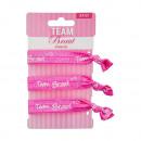 grossiste Accessoires cheveux: Bracelet Team Bride rose, lot de 3