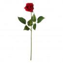 Rose artificielle, rouge, env.45cm