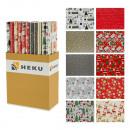 Großhandel Geschenkartikel & Papeterie: Geschenkpapier Weihnachten 10-fach sortiert