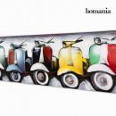 Großhandel Bilder & Rahmen: Vespa motorrad  Ölzeichnung by Homania