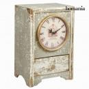 grossiste Maison et habitat: Horloge en bois grise by Homania
