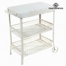 wholesale Office Furniture: Iron shelf cart  white by Craften Wood