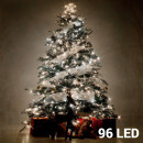 Großhandel Lichterketten: Weiße Weihnachtslichterket te (96 LED)