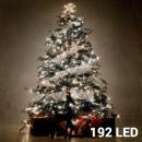 Großhandel Lichterketten: Weiße Weihnachtslichterket te (192 LED)