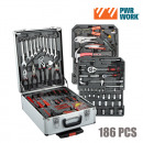 wholesale Toolboxes & Sets: PWR Work Tool Kit  on Wheels (186 tools)