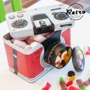 Großhandel Consumer Electronics: Retro Kamera  Metallbox (Farbe: Blau)
