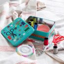 wholesale Haberdashery & Sewing: Metal Sewing Box  with Sewing Accessories