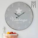 grossiste Maison et habitat: Horloge murale  Star XL Vintage Coconut
