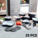 wholesale Pots & Pans: Black Premium  10143502 Pans and cookware set (25 p