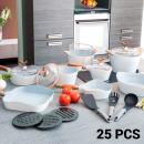 wholesale Pots & Pans: White Premium  10143502 Pans and Cookware Set (25 p