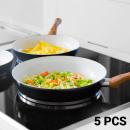 wholesale Pots & Pans: Titanium 1006  Frying Pans (5 pieces)
