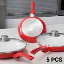wholesale Pots & Pans: Ceramic 1001  Frying Pans (5 pieces)
