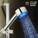 mayorista Calefacción y sanitarios: Ducha con Luz  Redonda Eco Led Shower