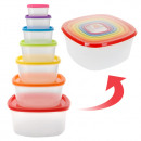 wholesale Microwave & Baking Oven: Food Storage  Containers with  Coloured Lids (7 ...