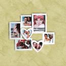 Romantische Fotolijst met Hartjes (7 fotos)