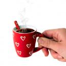 Minitasse Herzen mit Teelöffel