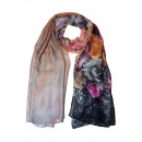wholesale Headgear: Fashionable long  scarf with floral print 70x180cm
